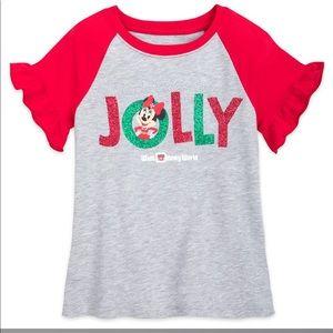 Disney holiday Minnie Mouse Jolly shirt